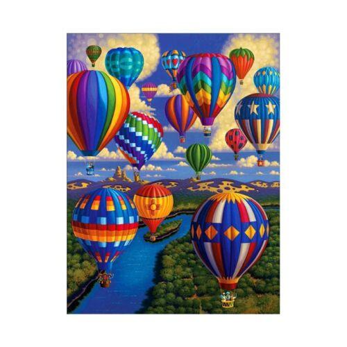 5D DIY Diamond Painting Hot Air Balloon Embroidery Cross Craft Stitch Home Decor