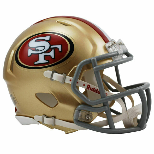 New Riddell San Francisco 49ers 2018 Throwback Tribute Speed Mini Football Helmet