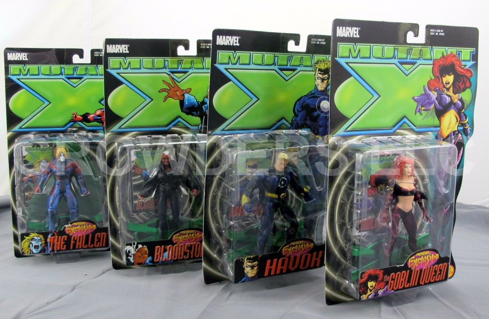 Marvel Mutant X Complete Set Havok Goblin Queen Fallen & BloodStorm Brand New 01