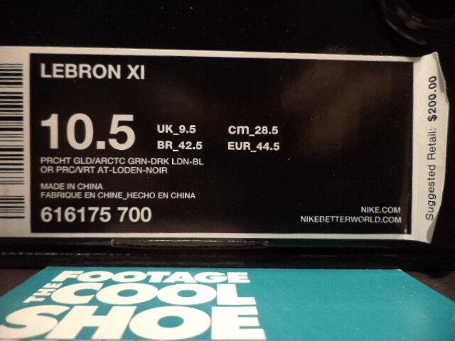 2013 Nike LEBRON XI XI XI 11 KING'S PRIDE PARACHUTE oro LODEN nero 616175-700 10.5 13bfed