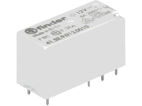2 pcs 41.52.9.012.0010 Finder Relais  Relay  2xU 12VDC 8A  360R  DPDT  NEW  #BP