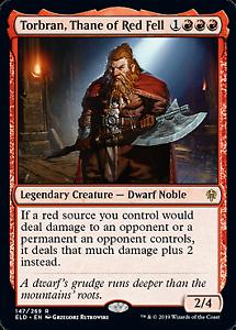 Throne of Eldraine Mtg x1 1x ELD Magic Torbran Thane of Red Fell 147