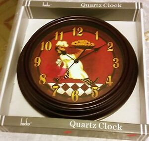 Plastic Kitchen Wall Clock 12 Quot Italian Fat Chef With