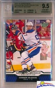 2015-2016-UD-Connor-McDavid-Collection-8-ROOKIE-BGS-9-5-GEM-MINT-Oilers