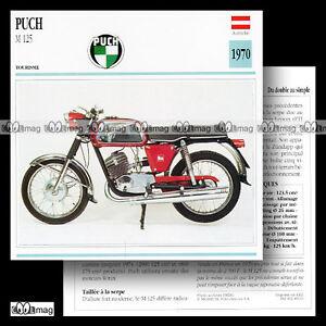 #049.16 PUCH M 125 1970 (M125) Fiche Moto Motorcycle Card - France - État : Occasion: Objet ayant été utilisé. Consulter la description du vendeur pour avoir plus de détails sur les éventuelles imperfections. ... - France