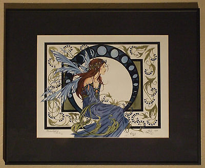 Amy Brown Print Fairy Limited Edition LE Signed #//75 13x19 LADY DRAGON Rare HTF