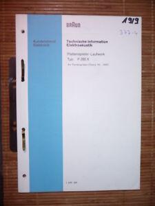 Tv, Video & Audio Service Manual Braun P 350 X Plattenspieler,original Und Verdauung Hilft