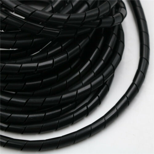 8M//25ft 8mm Wire Spiral Wrap Sleeving Band Tube Cable Wire Protector HGV!