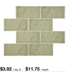 WAREHOUSE  PRICE $0.99 !!   3x6 Subway tile.  2 subway tiles to choose from!!! Windsor Region Ontario Preview