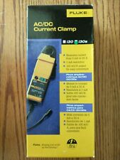 Fluke I30s Acdc Current Clamp 30a Dc 20a Ac Rms 100khz Bw