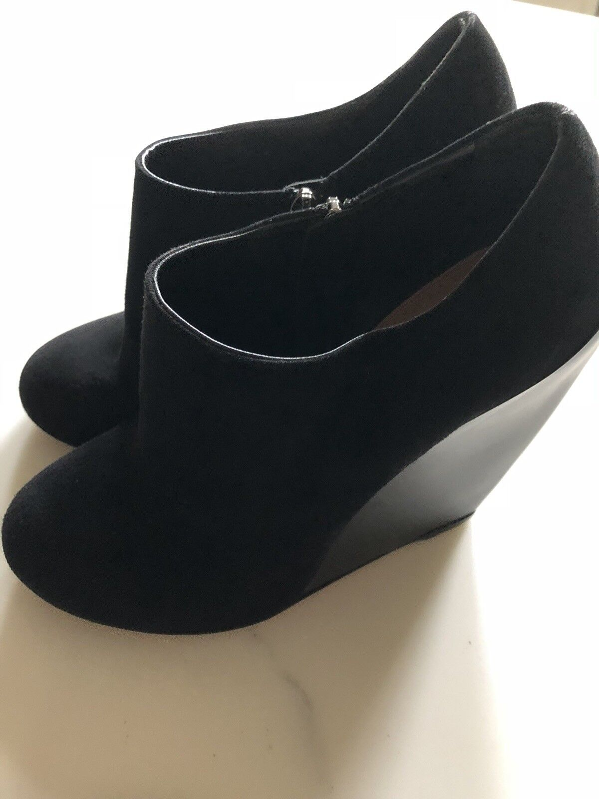 Rare Rare Rare Alaia Black Leather Zip Up High Wedge Heel Booties 39 Barney's  1500 74d657