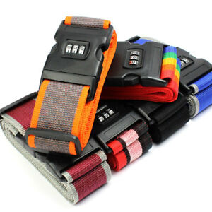 Adjustable-Suitcase-Luggage-Baggage-Straps-Combination-Lock-Belt-Tie-Down-Travel
