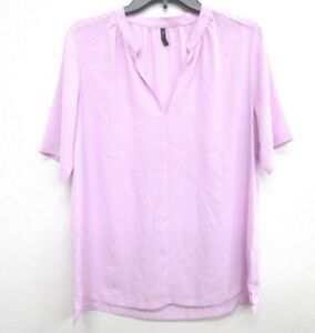 NEW-NYDJ-Not-Your-Daughter-039-s-Jean-Short-Sleeve-Blouse-Size-MEDIUM