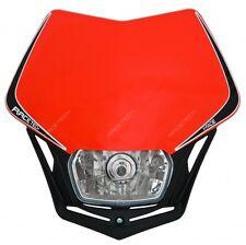 Mascherina Portafaro Anteriore Moto Universale Rtech V-FACE Rosso Honda Enduro
