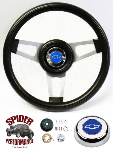 """1955-1956 Bel Air 150 210 steering wheel BLUE BOWTIE 13 3//4/"""" steering wheel"""