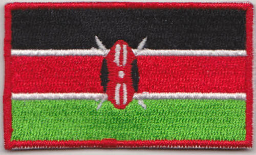 Kenya Country Flag Embroidered Patch T4