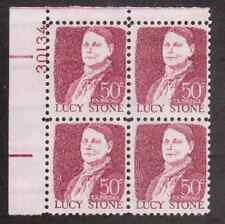 Scott #1293...50 Cent...Lucy Stone...Plate Block...4 Stamps