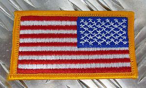 Verdadero-Army-MILITAR-CON-PLANCHA-Americana-Bandera-Right-hombro-Reversed