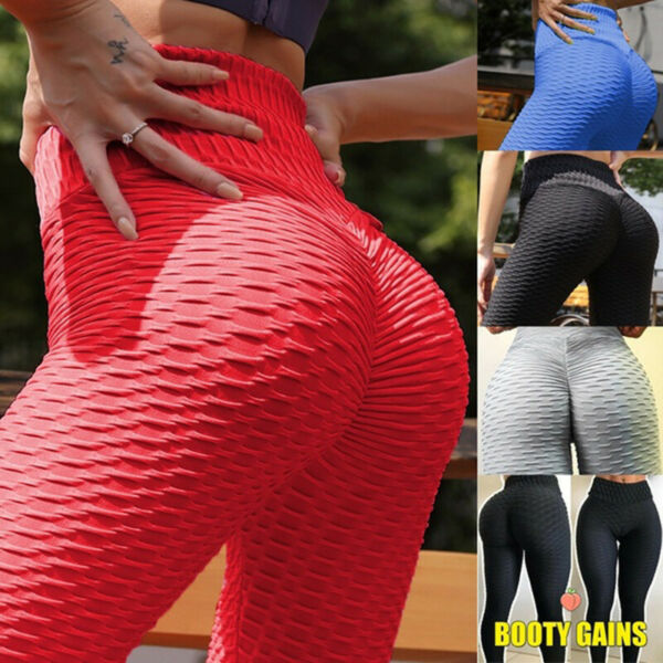 Fashion 3D Push Up Damen Schlank Shaping Leggings Hose Yoga Elastisch Sport NEU