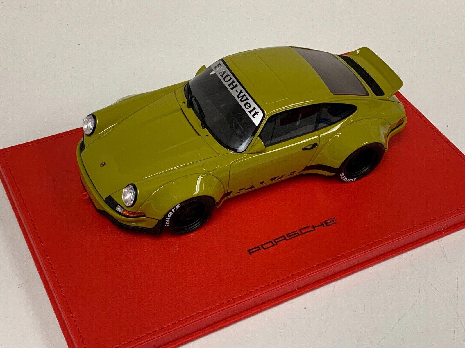 1 18 GT Spirit Porsche 911 RWB Type 2.8 RSR Kaki Grün GT120 rot Leather Base