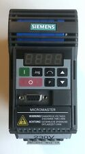 New Listingsiemens Micromaster 6se9213 6ca40 Variable Frequency Ac Drive 39amp 230vac 750w