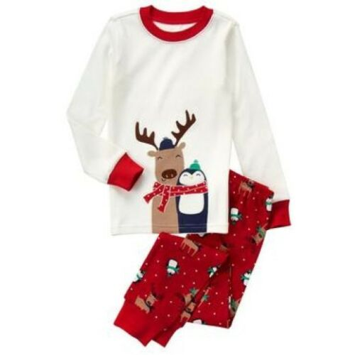 NWT Gymboree Reindeer /& Penguin Polar Pals Gymmies Sleep Set Pajamas PJ 10