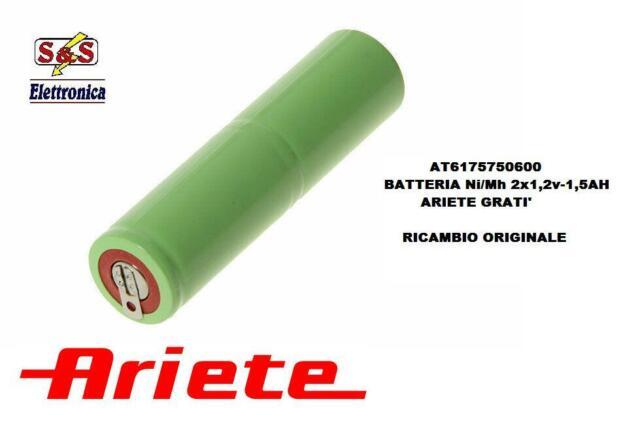 AT6175750600 BATTERIA ORIGINALE ARIETE 2X1,2V 1,5AH PER GRATI' ARIETE 44-440-447