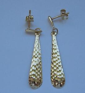 1-Paar-Ohrringe-Ohrhaenger-in-aus-14-Kt-585-Gold-earrings-Damen