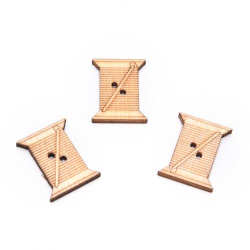 50pcs outil de couture en bois faits à la main boutons scrapbooking artisa IHS