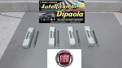 KIT 4 CANDELETTE ORIGINALI FIAT 46796050 GRANDE PUNTO IDEA PANDA 1.3 MULTIJET