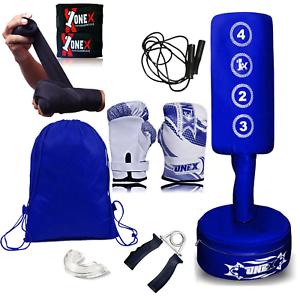 Junior Heavy Duty Free Standing Punch Bag Kids Boxing MMA Kick Gym Training Set