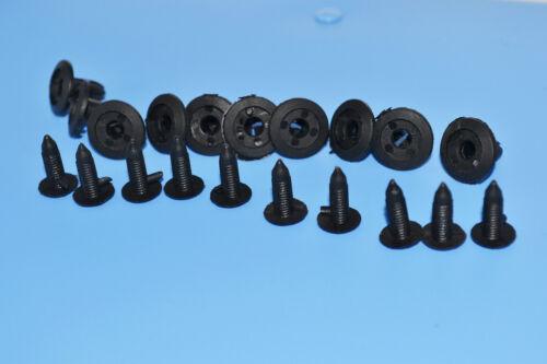 10 X Mercedes Benz De Plástico Negro Remaches clips de montaje de paneles