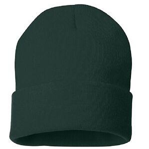 Forest Hunter Green Watch Cap Stocking Winter Hat Cuffed Beanie Free ... 0f43b4d7abe