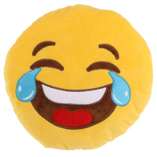 Large 28cm Crying Laughing Laughter Tears Haha LOL Emoji Emoticon Cushion Pillow for sale online ...