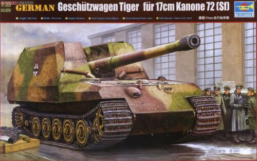 Trumpeter 135 tank models 00378 German cricket 170MM selfpropelled cannon
