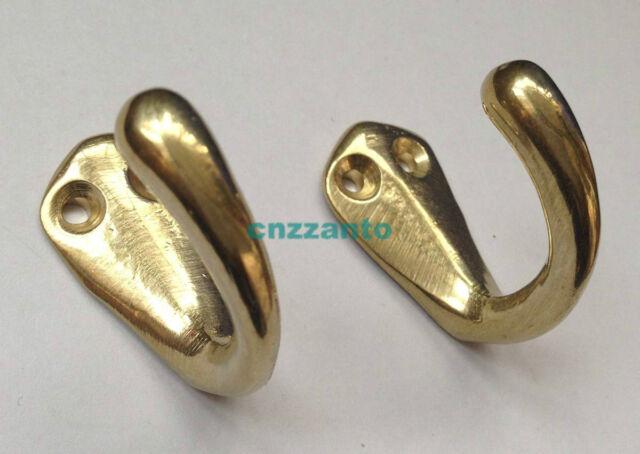 2pcs Gold Single Robe Coat Hat Door Wall Towel Solid Brass hanger hooks BR008