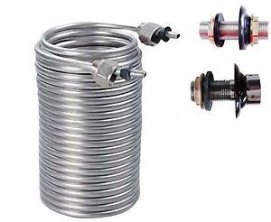 50' Beer Tap Cooling Coil steel kegerator faucet jockey box Home brew Draft