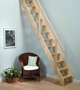 Image Is Loading Madrid Wooden Space Saver Staircase Kit Loft Stair