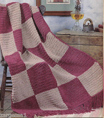 Lovely Crochet Block Blanket- Crochet Pattern Only- Use up that spare wool
