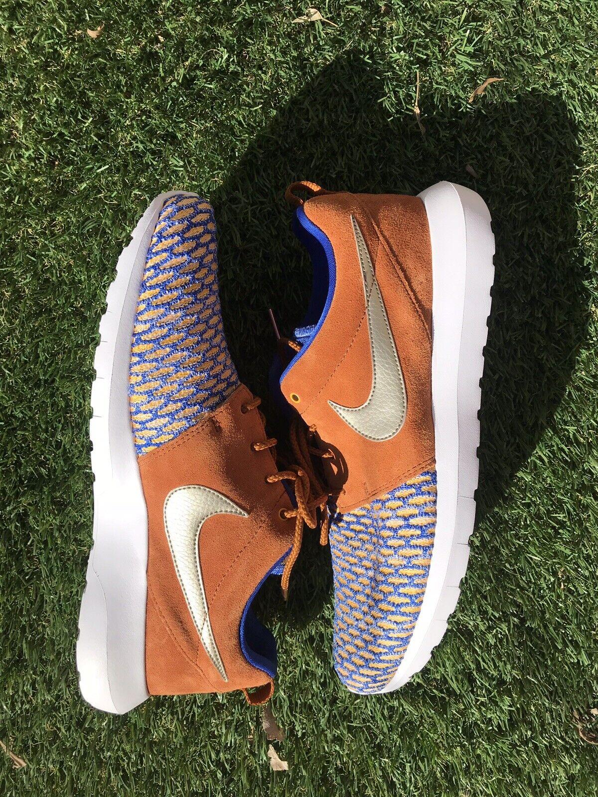 Nike Roshe Flyknit Tawny PRM Premium Game Royal Metallic Size 10.5  (746825-402)