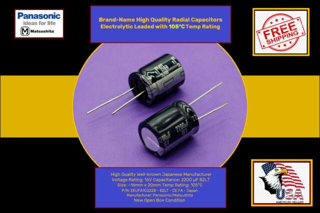 5 Elco 2200 UF 16 V 105 ° Axial = 5 PCS