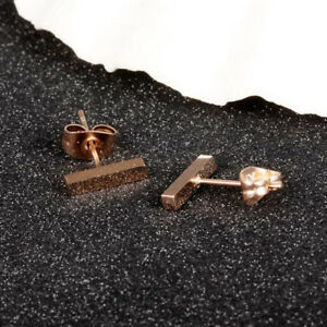 Smooth-Rectangle-Long-Short-Rose-Gold-GP-Surgical-Stainless-Steel-Stud-Earrings