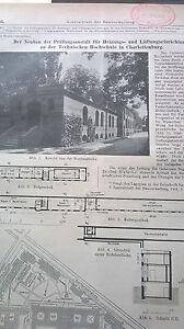 1910 46 Université Technique Charlotenburg Berlin/duisburg Gymnasium-afficher Le Titre D'origine