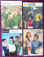 Various Knitting Patterns Family Sweaters Cardigans - Choose from Drop-down Menu