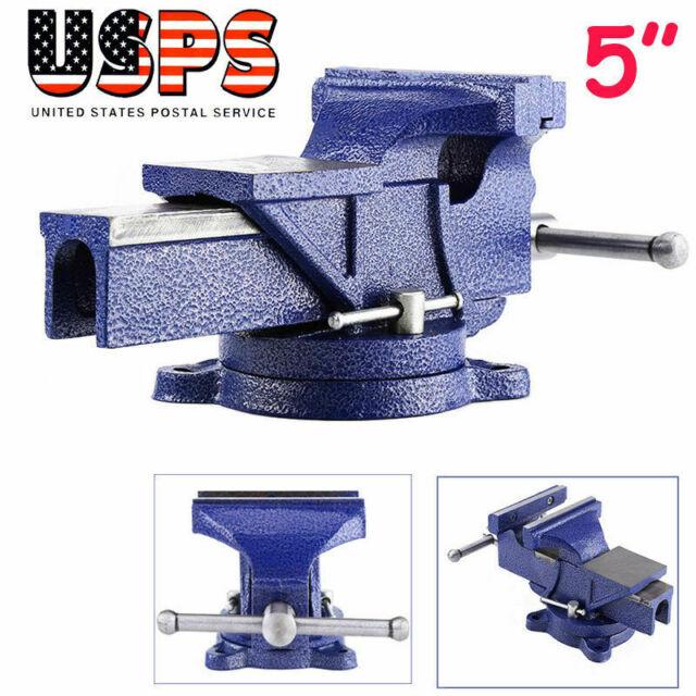 "6/"" New Mechanic Bench Vise Table Top Clamp Press Locking Swivel Base Heavy Duty"