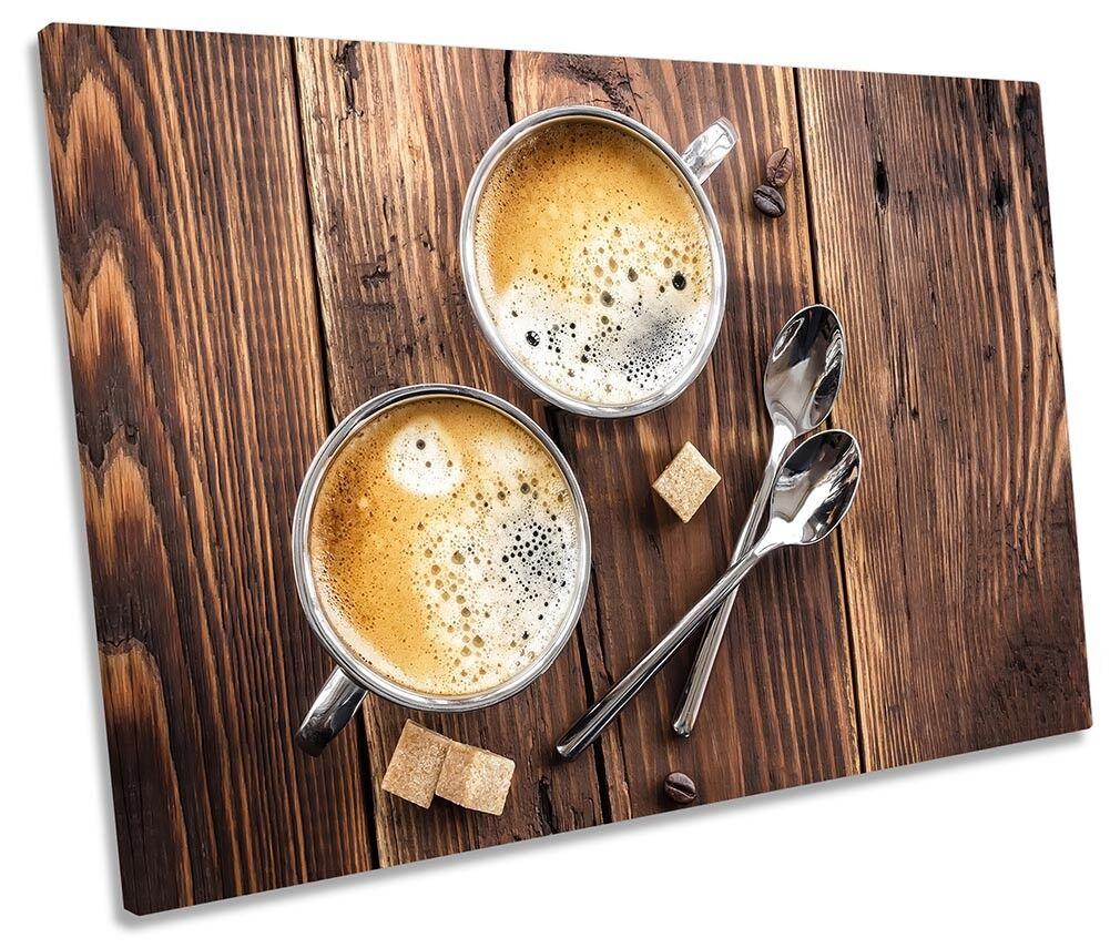 Caffè tela cucina in legno quadro tela Caffè singola Wall Art Print 8b46a3