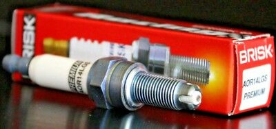 1 Brisk AOR14LGS Spark Plug Aprilia Pegaso Strada Factory 650 Mojito 125 Sportci