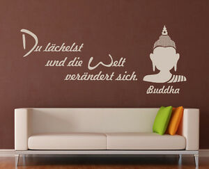 Wandaufkleber wandbild zitat spruch wandtattoo asia - Wandtattoo buddha ...