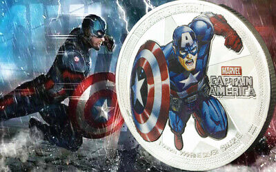 Mutig 1 X Marvel Captain America Super Hero Avenger Infinity War End Game Coin 2019 Harmonische Farben