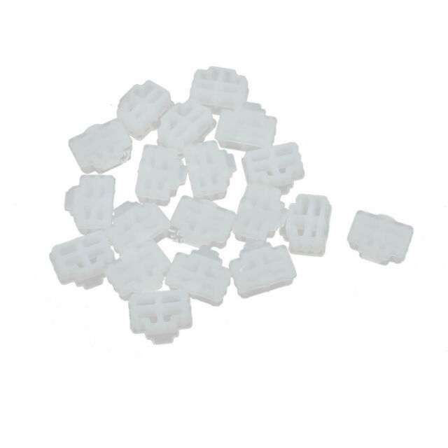 20Pcs RJ45 Clear Silicone Anti-dust Stopper/Plug for Protect Data Port Of PC